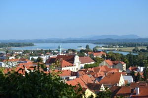 Panorama de Ptuj et la rivière Drava