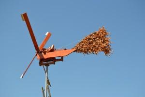 Crécelle éolienne pour effaroucher les oiseaux dans les vignes