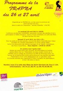 programme 26 et 27 avril frapna
