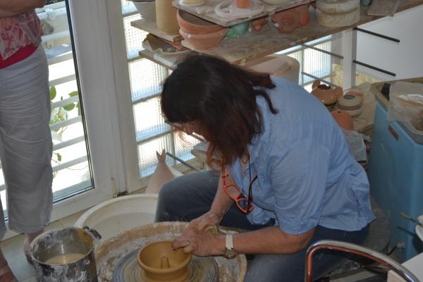 Démonstration de poterie par Andreja