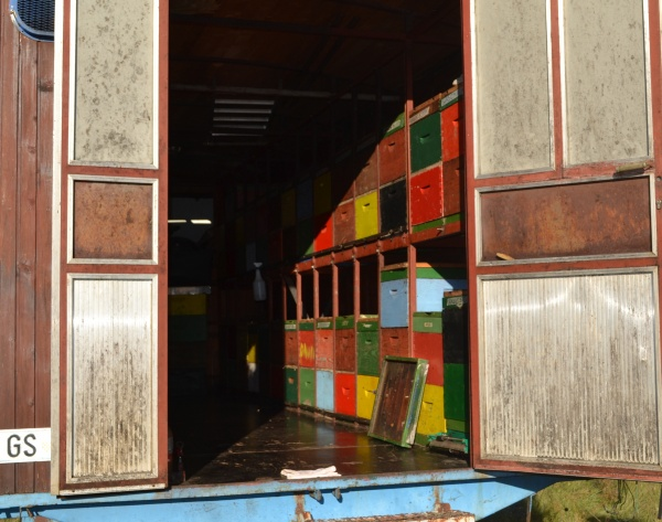L'intérieur du camion