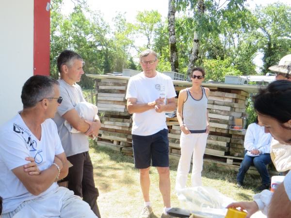 Thierry Chavant, président de la section apicole du GDS01