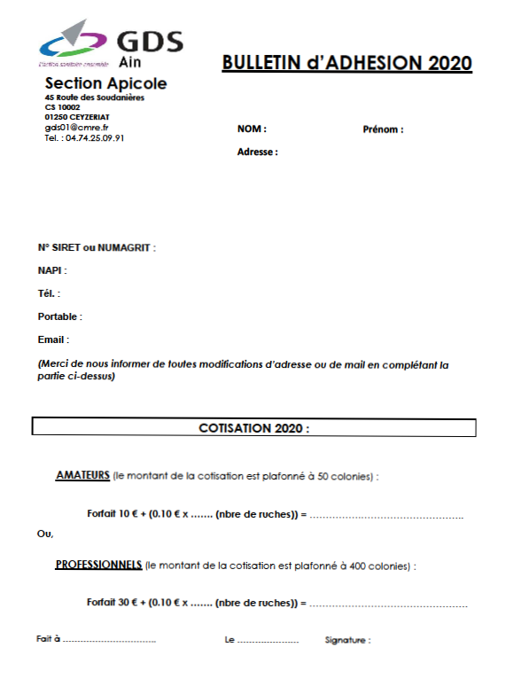 Bulletin adhésion 2020 GDS 01