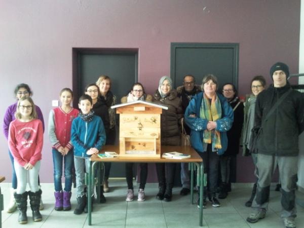 La réception de la ruche à livres